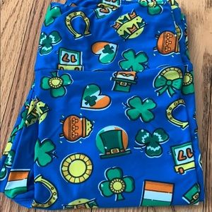 Lularoe St. Patrick's Day leggings OS